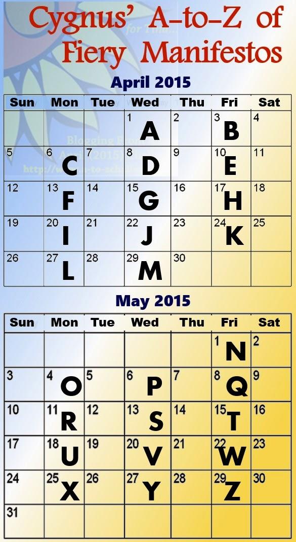 A to Z calendar