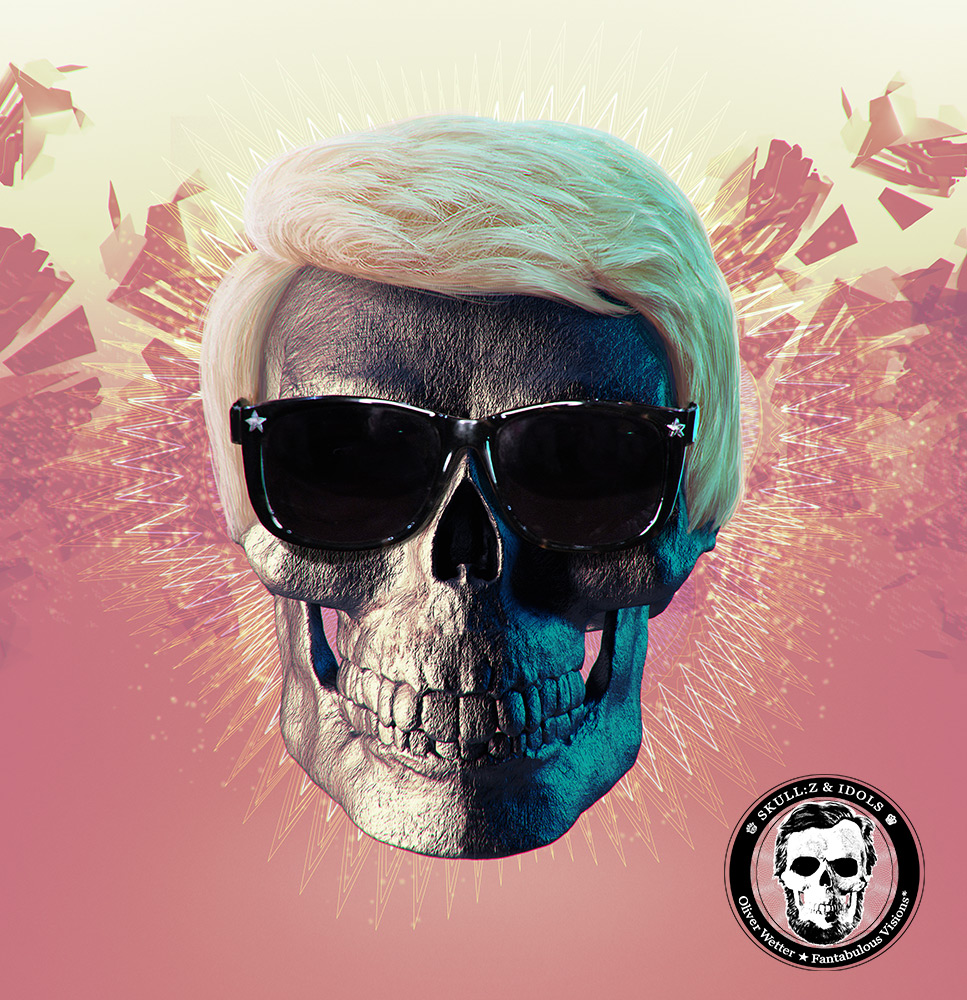 Skull portrait of Heino