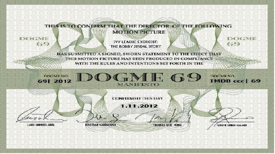 dogme 95 certificate