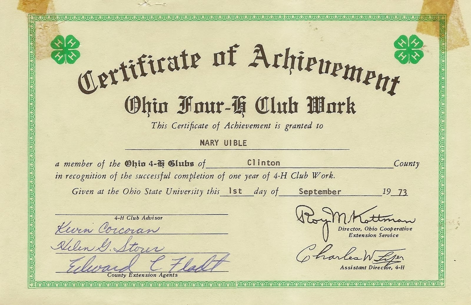 Uibles a family blog 1973 mvs 4 h certificate of achievement 1973 mvs 4 h certificate of achievement sept 1 xflitez Choice Image
