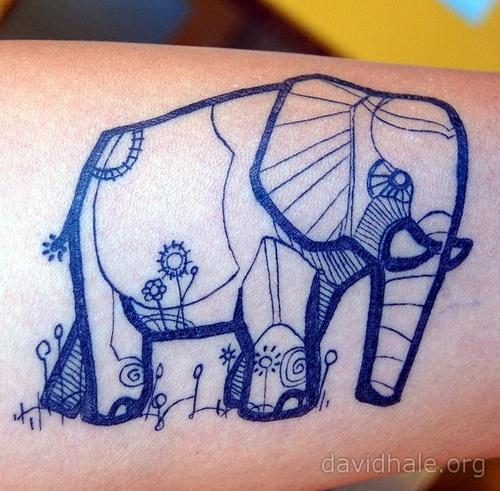 Tattoo Elefante Elephant Tatuagem