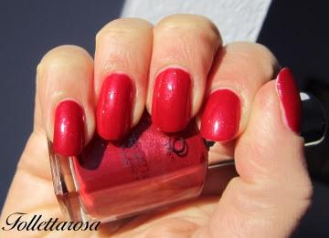smalto rosso glitter