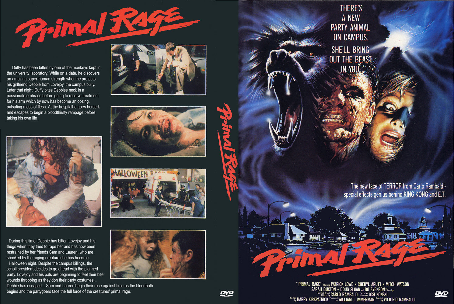 The Horrors of Halloween: PRIMAL RAGE (1988) Posters, Clips and ...