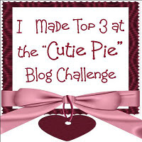 "I made Top 3 at the ""Cutie Pie"" Blog Challenge"