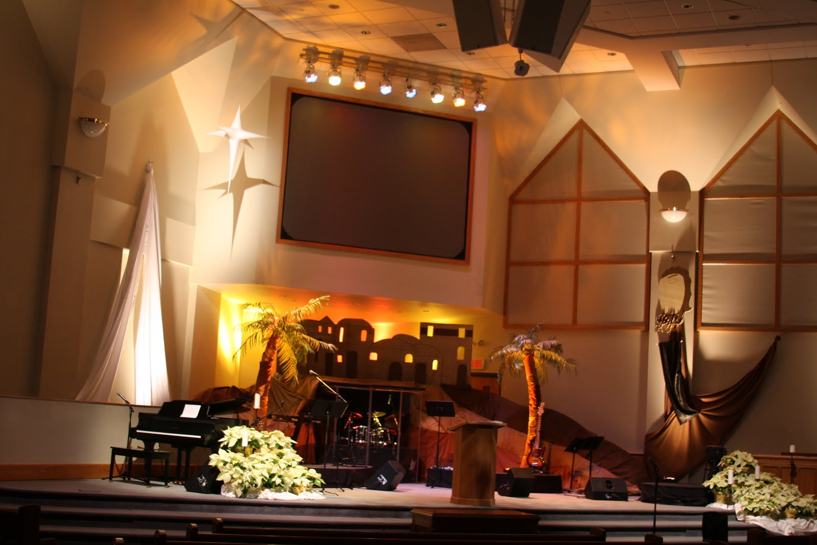 Church Stage Decorating Ideas Advent 2008
