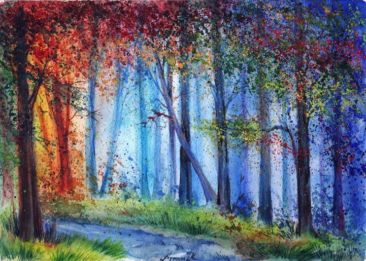 pinturas de acuarela Anna Armona