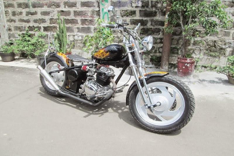 Motor Honda GL 100 Modif Chopper