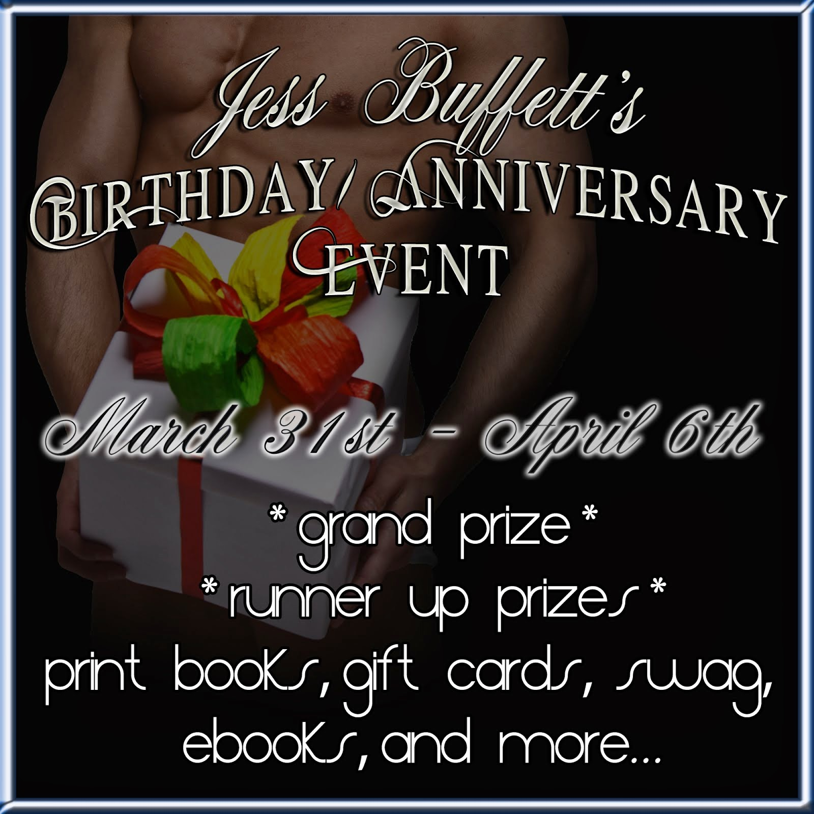 Jess Buffet birthday/anniversary GIVEAWAY
