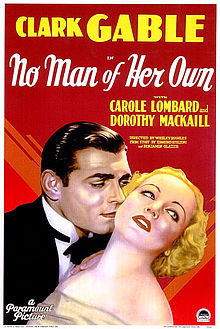 Clark Gable Carole Lombard No Man of Her Own movieloversreviews.filminspector.com