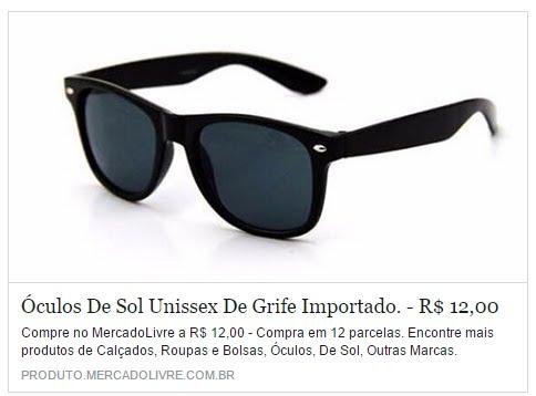 Óculos de sol Unissex de Grife