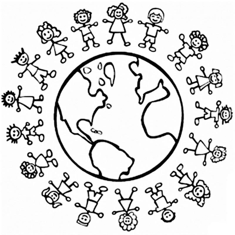 Dibujos Colorear Niños Del Mundo Dibujos Dia Del Niño Para