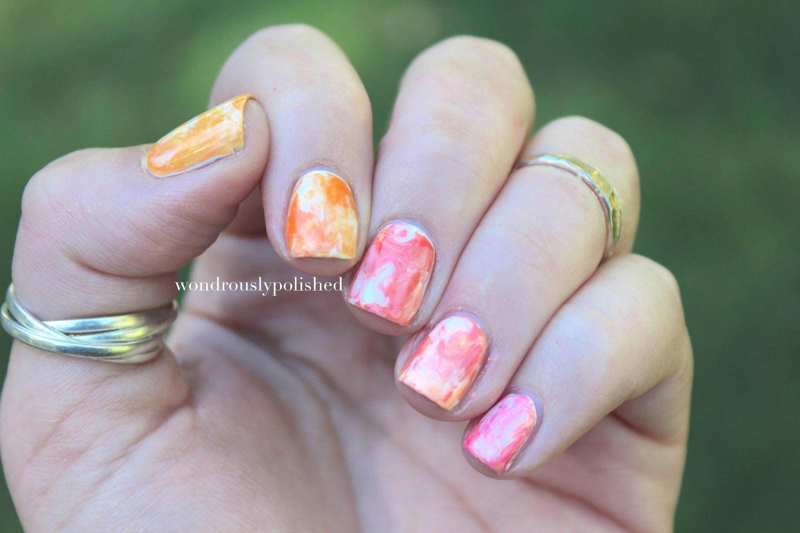 Wondrously Polished: Water Color Nails Tutorial!
