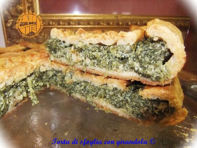 torta salata ricotta e spinaci con girandola