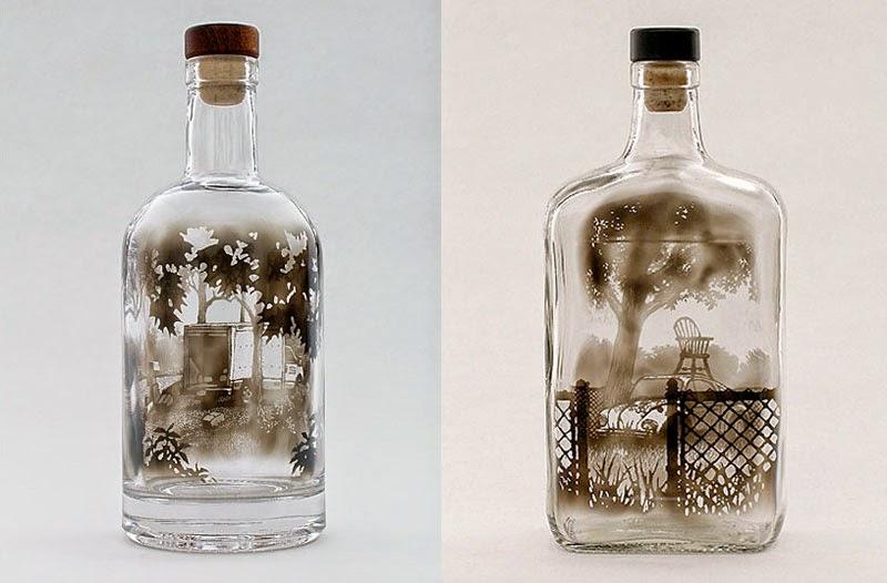 obras de arte en vidrio