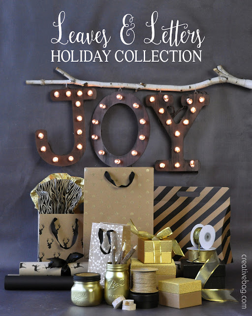 kraft/black/gold holiday gift wrapping | Creative Bag