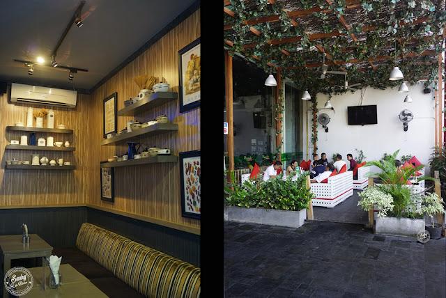 Interior dan teras Honey & Bread Cafe