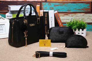 Tas KW LV Sutton Epi Leather Set Dompet 755SV Jakarta