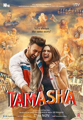 First poster of Tamasha starring RanbirKapoor and Deepika Padukone