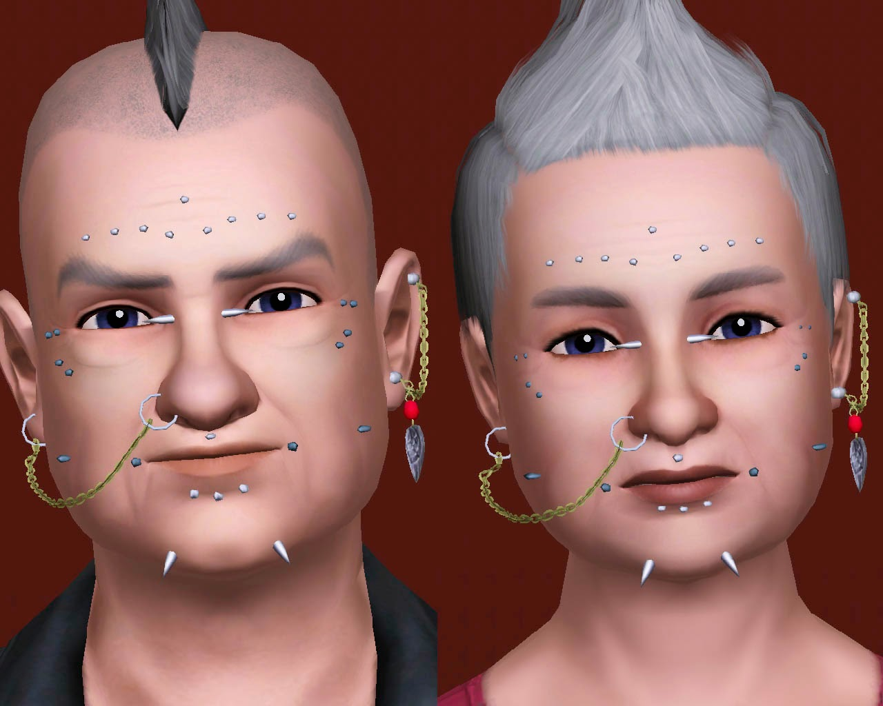 My Sims 3 Blog Pack Of Facial Piercings Plus Two By