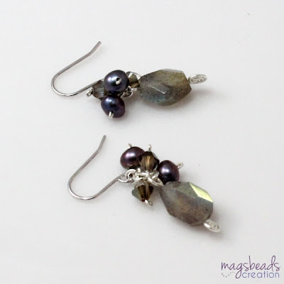 Cluster Labradorite Earrings - magsbeadscreation.com
