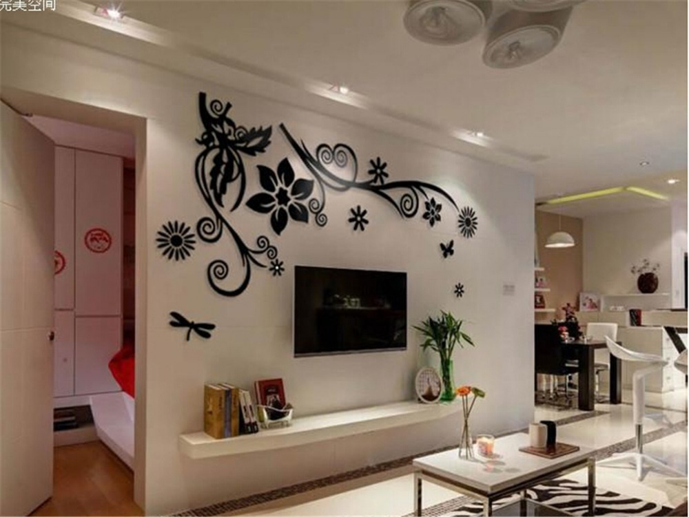 3d wallpaper stickers for tv wall units designs home for Interior designs tv wall units