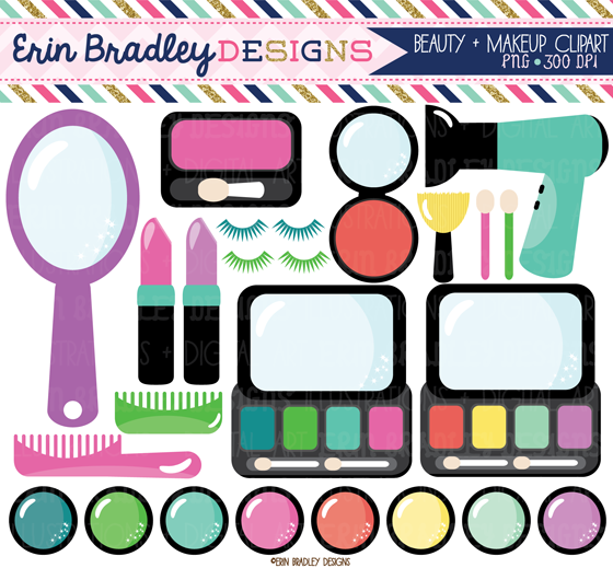 erin bradley designs makeup clipart and new floral elements