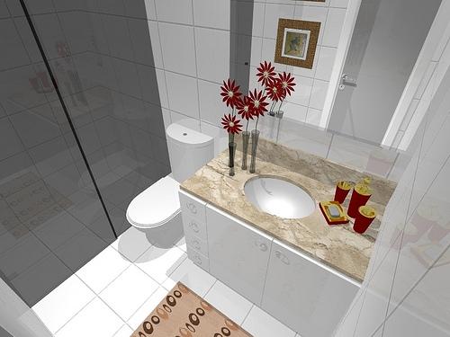 Ambientes & Ideias Banheiros -> Fotos De Banheiro Social Simples