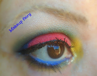 eye makeup red hot