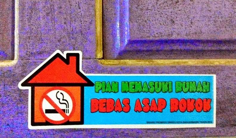 pian memasuki rumah bebas asap rokok