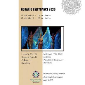 Horarios Bellydance 2020