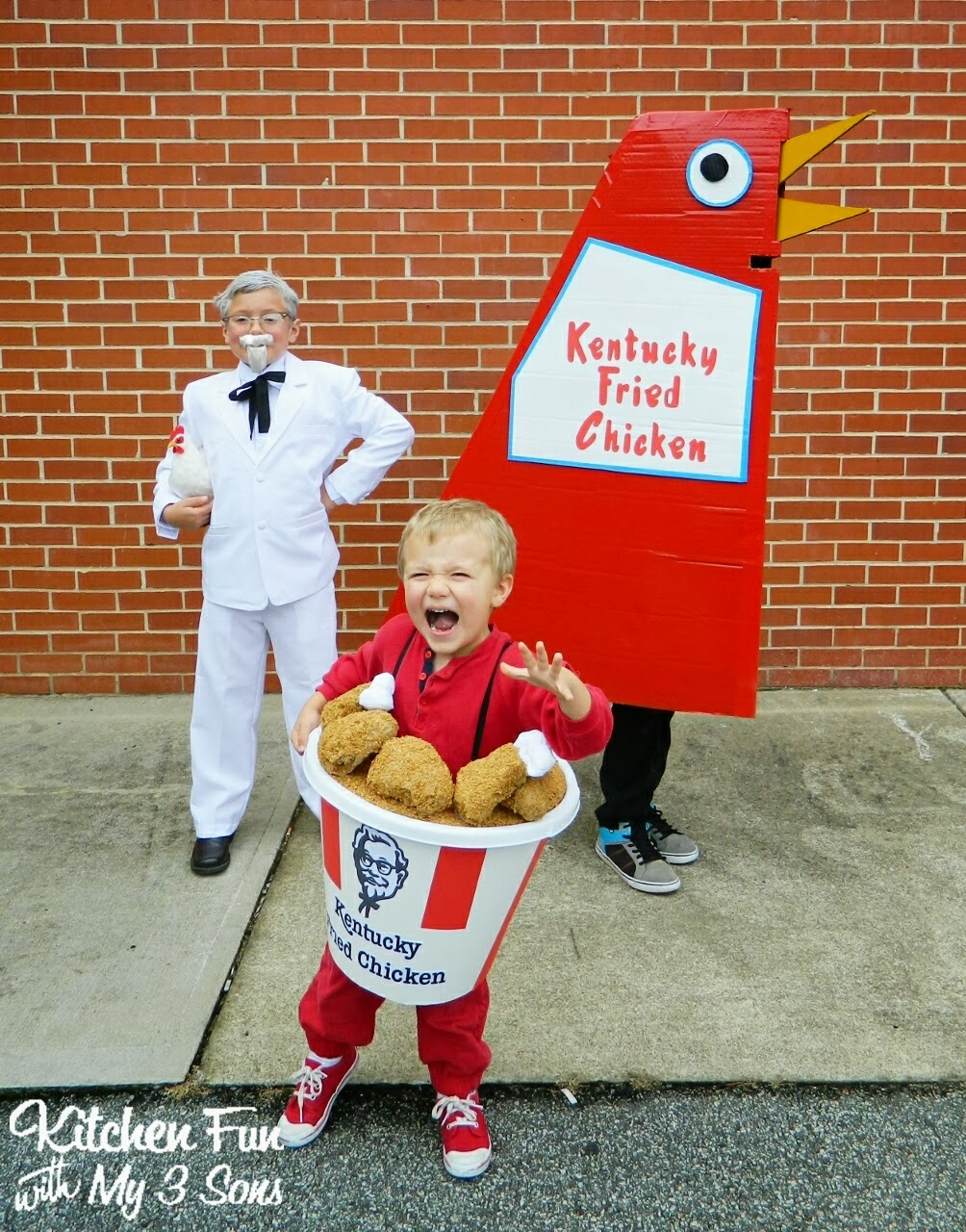 Our 2013 Homemade KFC Kentucky Fried Chicken Costumes! - Kitchen ...