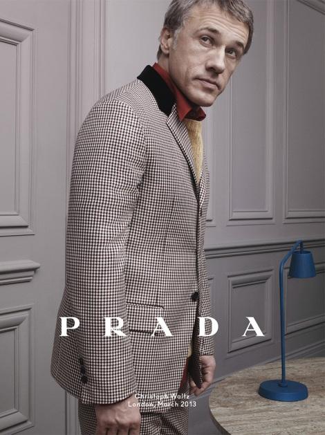 Christoph Waltz for Prada Fall Campaign