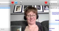 Picture of Ms Cassidy during her Skype interview