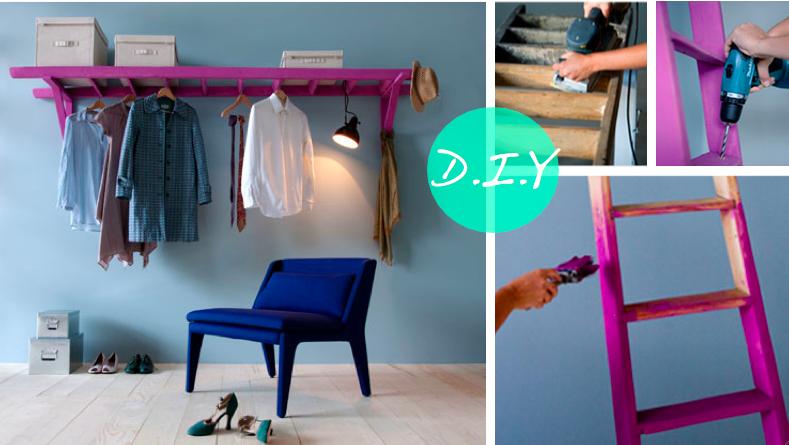 Grosgrain ladder closet diy - Como decorar un mueble ...