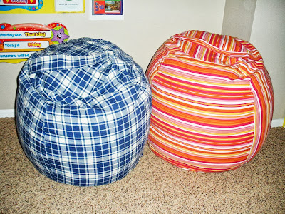 DIY Rollie Pollie Bean Bag Chairs (dana-made-it) - 3 years later - an update