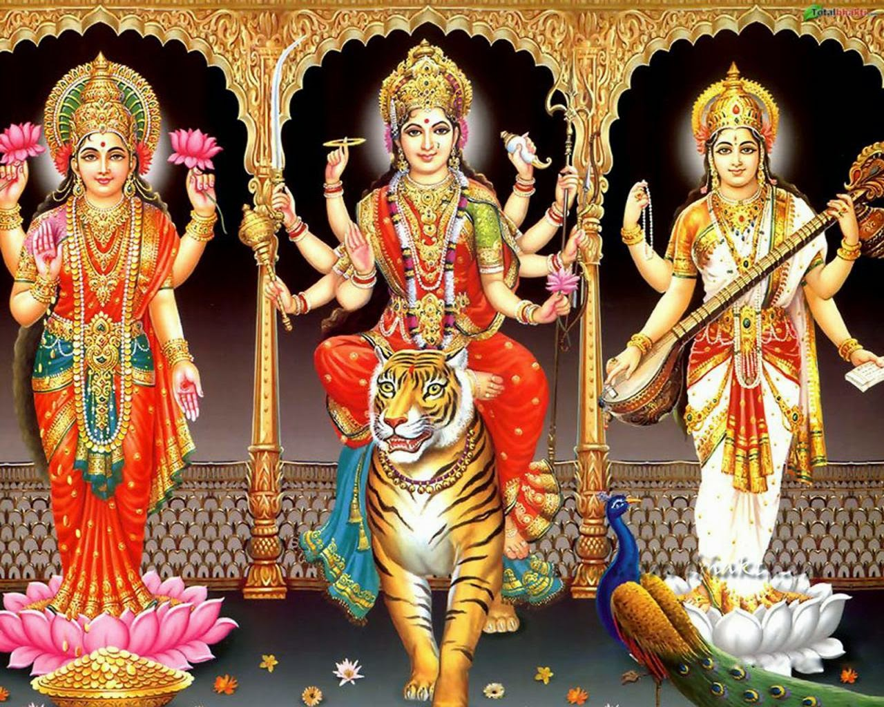 Durga Laxmi Saraswati Goddess