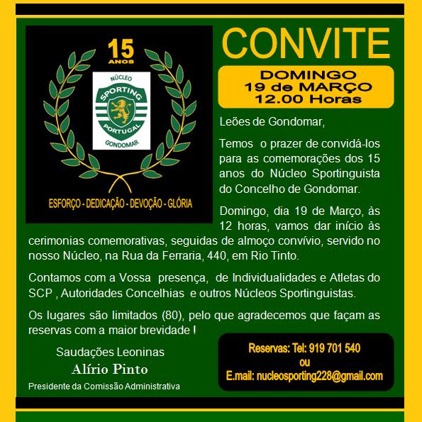 Festa Núcleo Sportinguista Gondomar