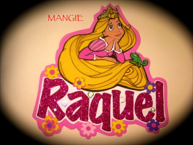 letrero nombre Rapunzel