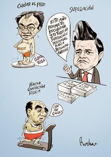 Caricaturas de Peña Nieto