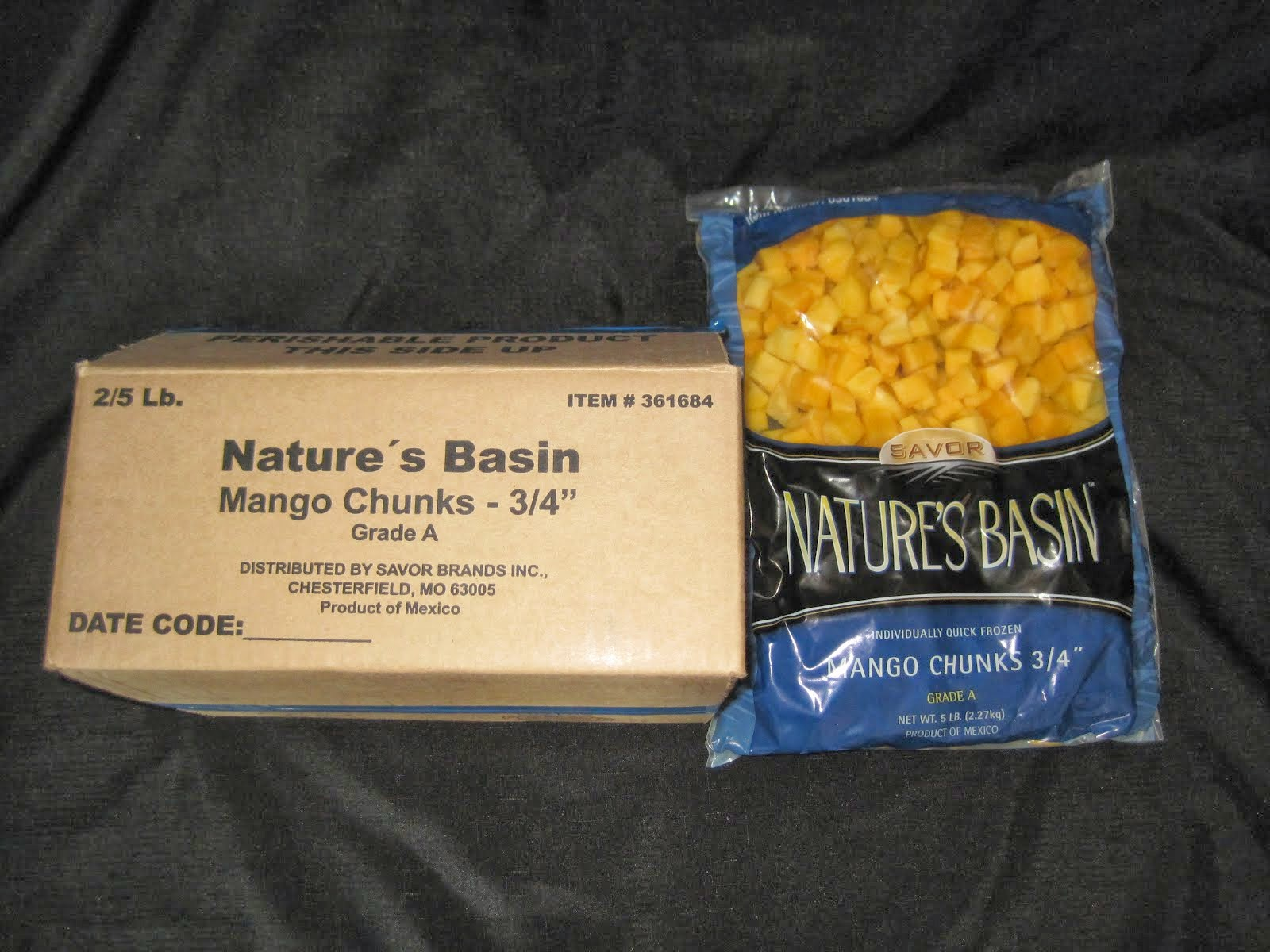 Mango Chunks 2/5 lb bags - Item # 25145