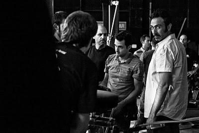 Víctor Tejedor con el equipo en rodaje