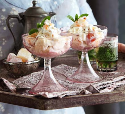 Try a Middle Eastern twist on the British classic Eton Mess Apricot & Turkish delight mess recipe