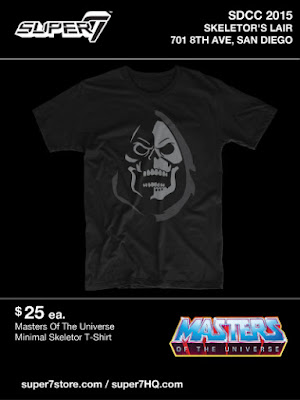 San Diego Comic-Con 2015 Exclusive Masters of the Universe T-Shirt Collection by Super7 x Mattel - Minimal Skeletor