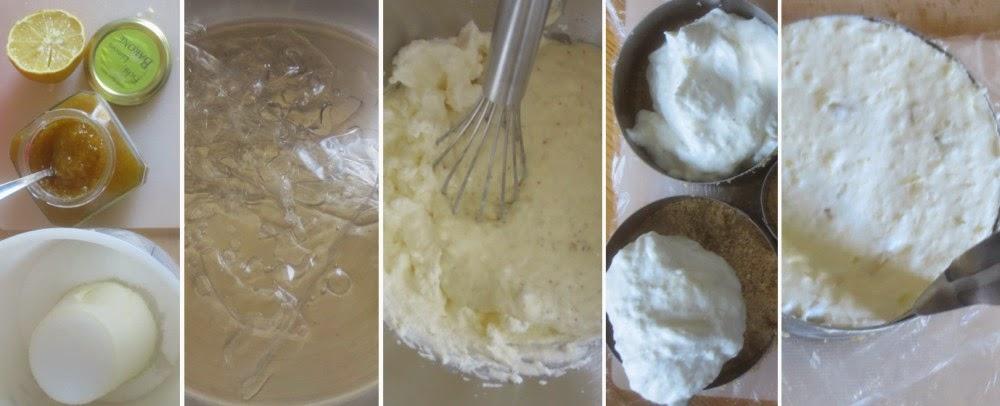 Zubereitung Feigen-Zitronen-Schmand-Törtchen, Zubereitung Zubereitung Schmand-Creme, Zubereitung Schmand-Mousse