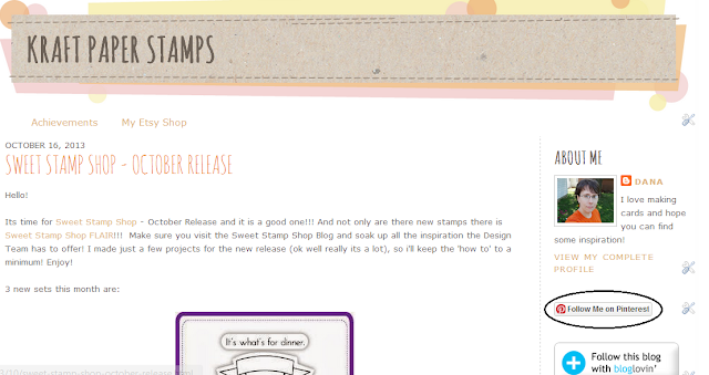 Sweet Stamp Shop - Get Bloggin - Kraft Paper Stamps