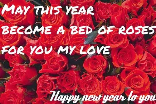 Best Happy New Year 2014 Greeting With Rose