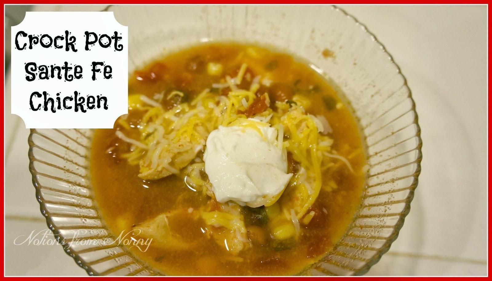 crock pot santa fe chicken servings 8 servings size 1 cup old points 3 ...