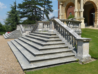 Front steps, Clandon Park (July 2014) © Andrew Knowles