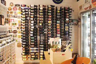Wine display at Bee's Knees Supply Company