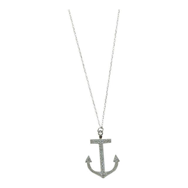 Silver Anchor Necklace1